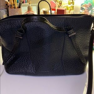 Ted Baker black leather tote